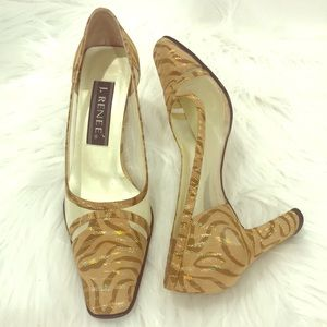 J. Renee Animal Print Heels EUC